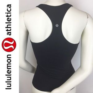 Lululemon | Black Razorback CRB Cool Tank Top 4 XS